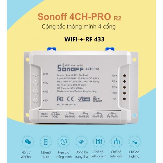4CH PRO 2 - công tắc WiFi RF 4 cổng