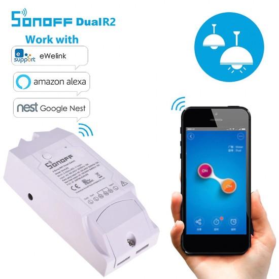 DUAL R2 - Công tắc WiFi thông minh 2 cổng phiên bản 2