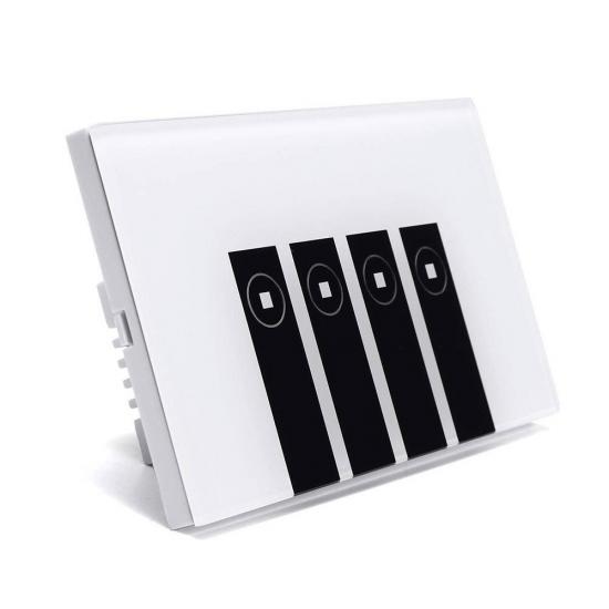 TUS4C - Công tắc WiFi cảm ứng 4 nút hình chữ nhật
