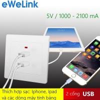 eWeLink L7862U - Ổ sạc USB âm tường 2 cổng